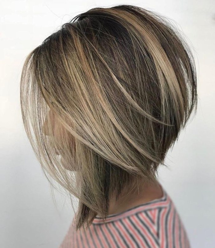 Reverse-Bob-Cut-in-Thick-Hair Most Coolest Medium Hairstyles with Color