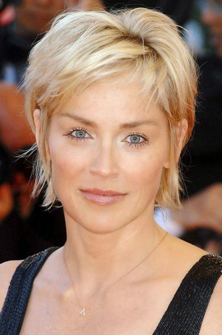 Sharon-Stone 19 Great Pixie Haircuts for Older Women