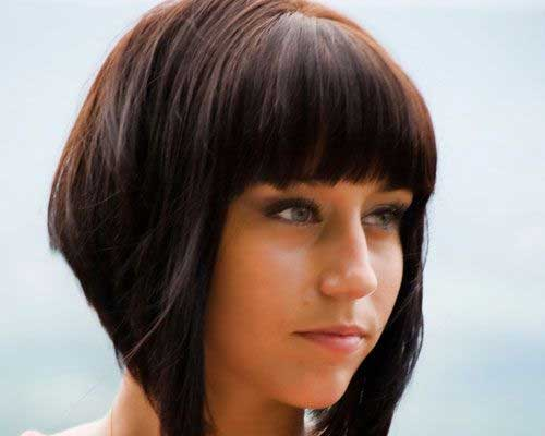 Short-Dramatic-Layered-Bob Best Short Bobs for Ladies with Round Faces