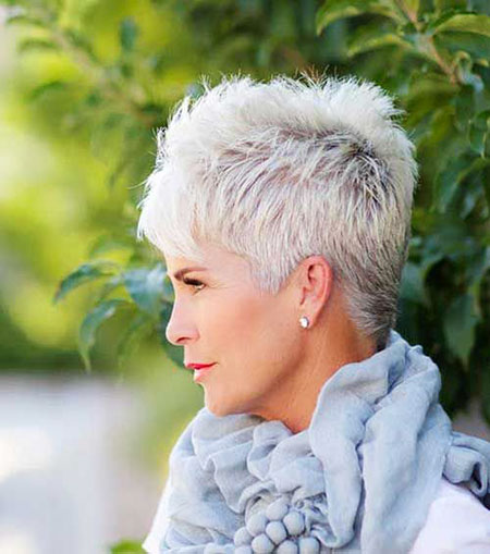 Short-Hair 19 Great Pixie Haircuts for Older Women