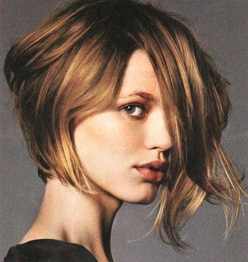 Short-Nice-Cute-Natural-Looking-Bob Best Short Bobs for Ladies with Round Faces