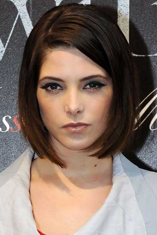 Short-Sexy-Neat-Bob Best Short Bobs for Ladies with Round Faces