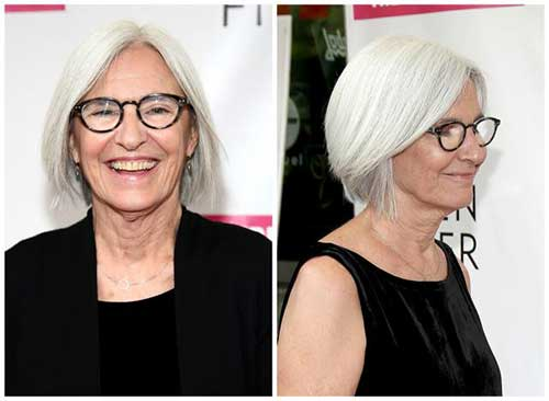 Straight-Bob Most Beloved Short Hair Styles for Older Women