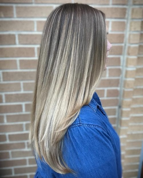 Straight-long-layered-ombre 12 Trending Long Layered Haircuts in 2020