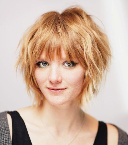Textured-Shaggy-Bob 12 Flattering Chin-Length Hairstyles You Need to Try