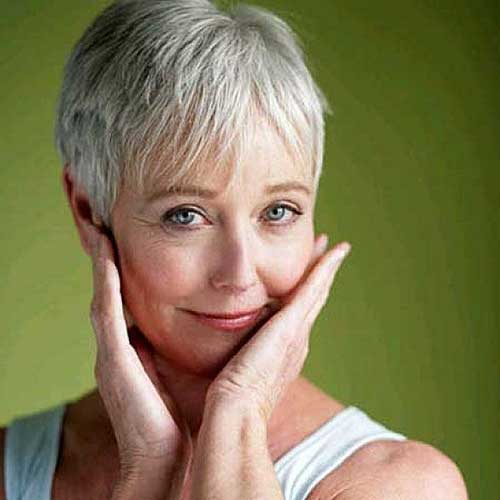Thin-Grey-Hairdo-for-Women 20 Awesome Short Haircuts for Older Women