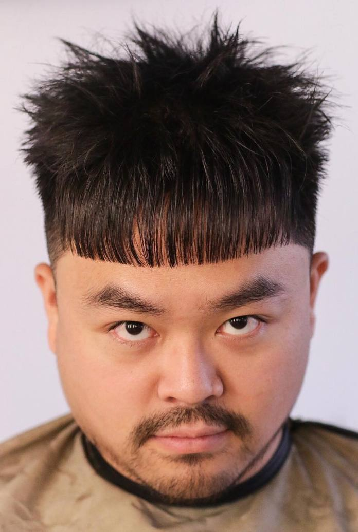 Tousled-Hair-with-a-Spiky-Texture Dashing Korean Hairstyles for Men