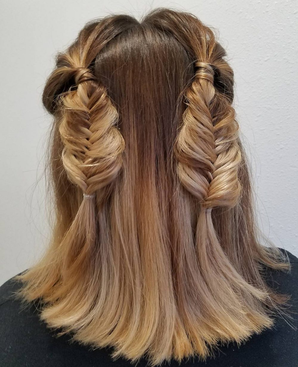 Two-Mini-Braids-on-Medium-Length-Hair Most Amazing Medium Braided Hairstyles