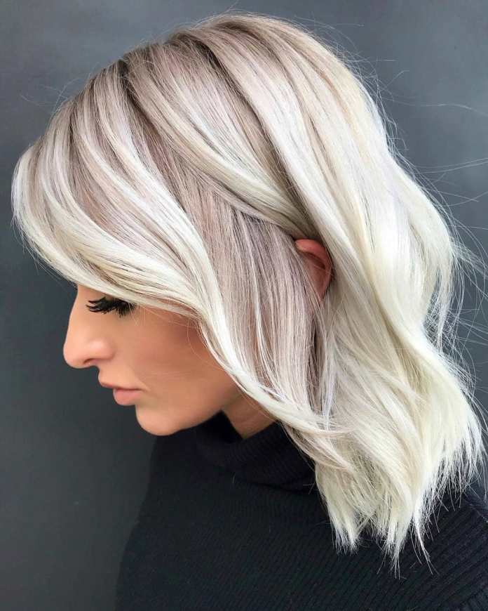 Ultra-Blonde-Casual-Lob Lob Haircuts 2020 for Ultra Glamorous Looks