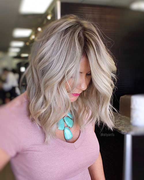 Wavy-Long-Bob Super Short Haircuts for Women