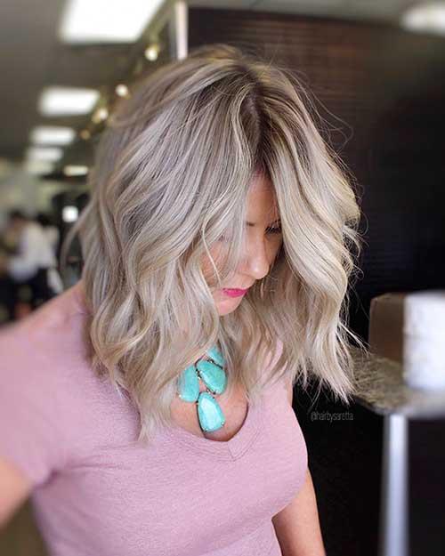 Wavy-Long-Bob Super Short Haircuts for Women