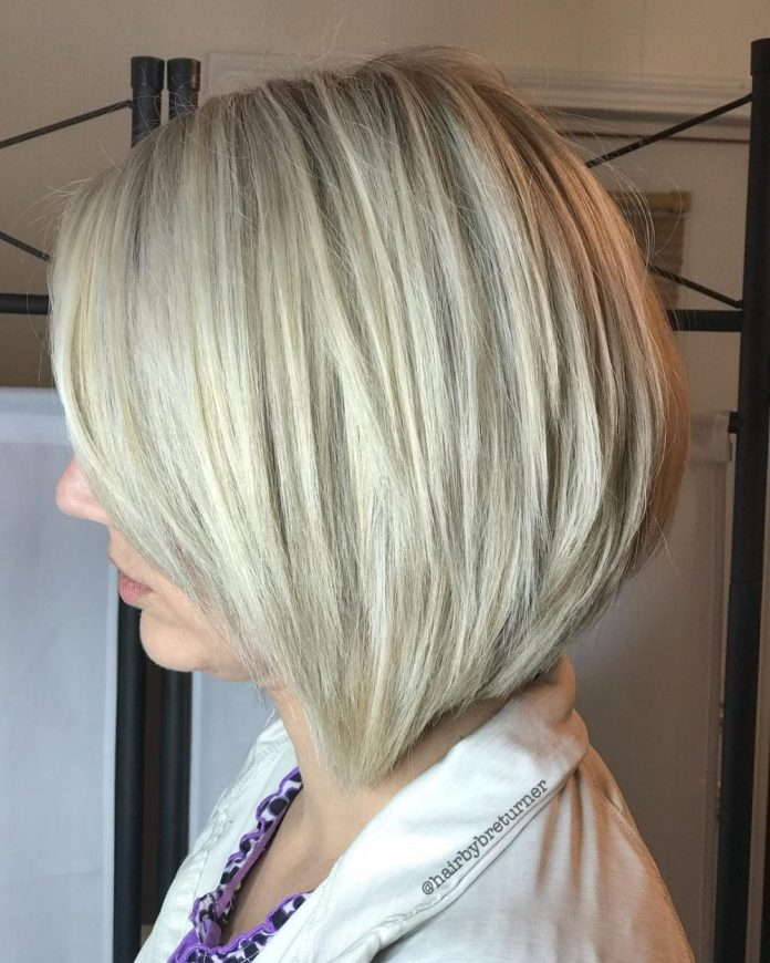 chic-medium-length-bob 10 youthful and stylish short hairstyles for women over 40