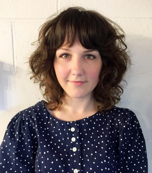 pretty-short-curly-hair-with-bangs 14 flattering and eye-catching hairstyles for short curly hair