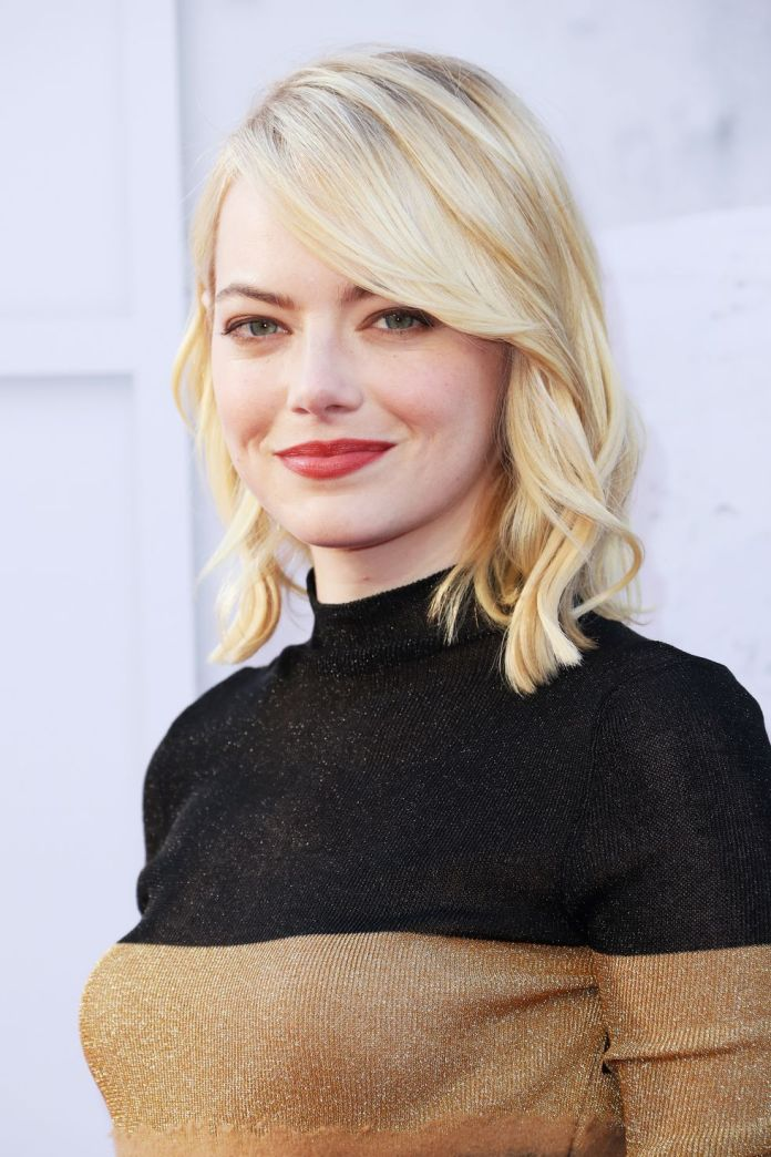 side-swept-lob 12 Prettiest Short Hairstyles for Round Faces