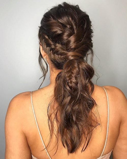 stylish-boho-chic-pony 10 Gorgeous Prom Hairstyles For Long Hair