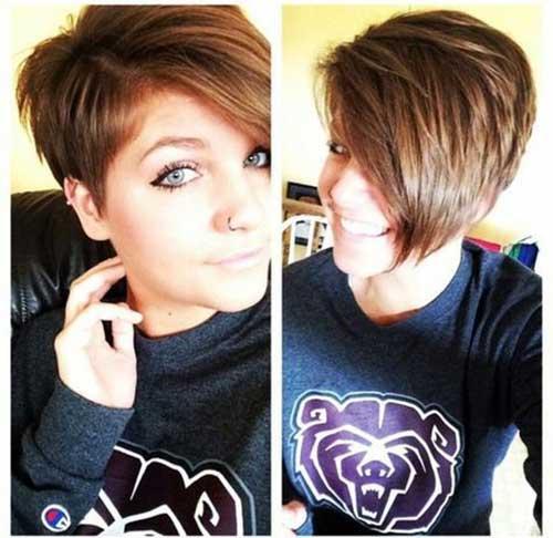 Asymmetrical-Pixie Best Short Layered Haircuts for Women