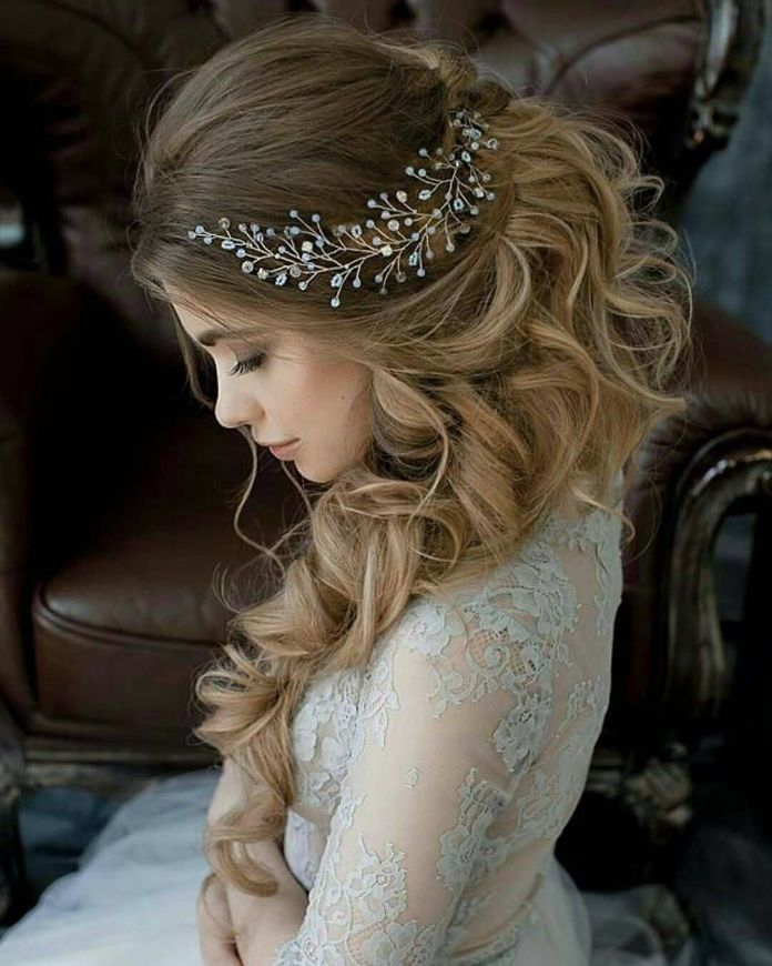 Asymmetrical-Swept-Hairstyle 21 Bridal Hairstyles 2020 for an Elegant Look