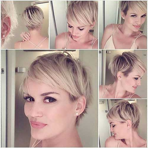 Blonde-Fine-Hair 20 Layered Short Haircuts for Women