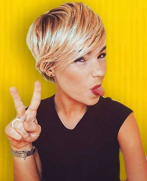 Blonde-Hair 20 Layered Short Haircuts for Women