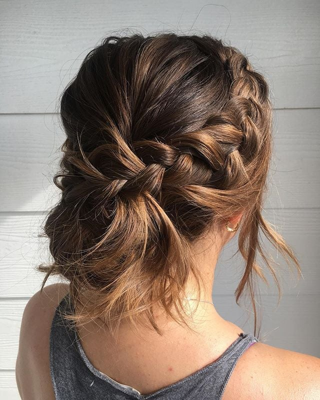 Braided-Tiara-Messy-Bun Messy Bun Hairstyle is the New Style to Enhance Your Look