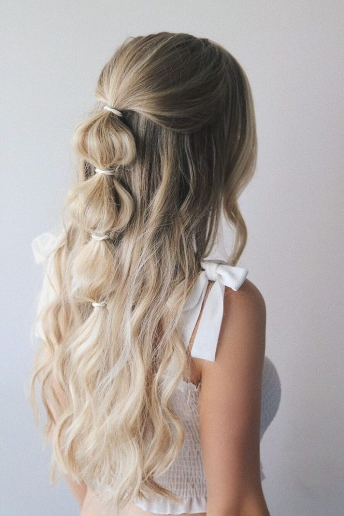 Bubble-Pony-Hairstyle 25 Festival Hairstyles to Enhance Your Appearance