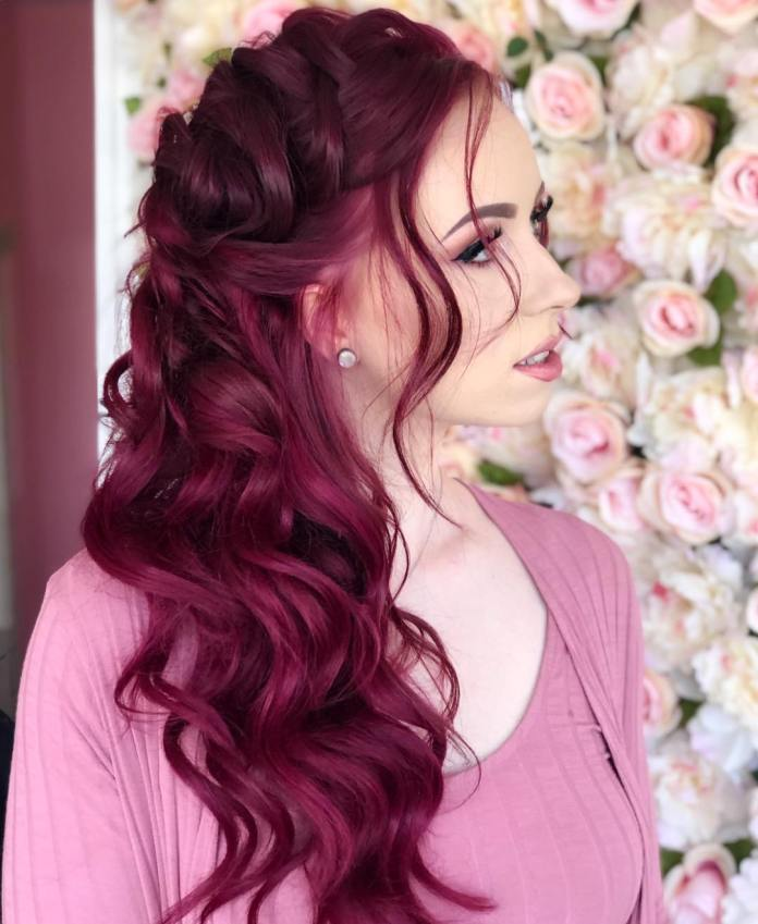 Dark-Maroon-or-Wine-Hair 21 Hair Color Trends 2020 to Glam Up Your Tresses