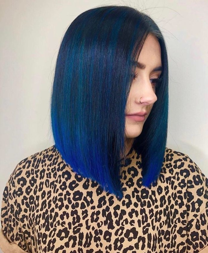 Deep-Blue-Dyed-Hair 21 Hair Color Trends 2020 to Glam Up Your Tresses