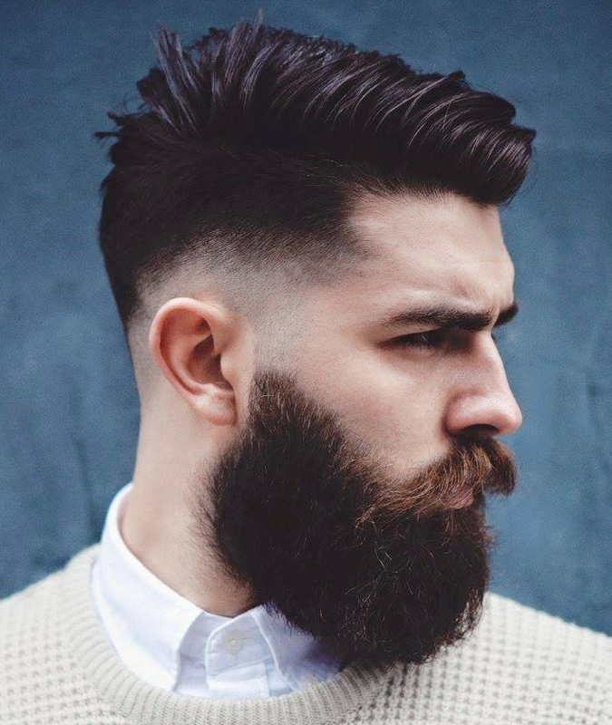 Drop-Fades-between-the-Puffed-Top-and-Puffed-Beard Drop Fade Haircut for an Ultimate Stylish Look