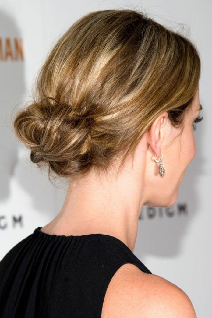 Low-Bun-Frosted-Blonde-Hair 20 Blonde Hairstyles 2020 to Flaunt this Year