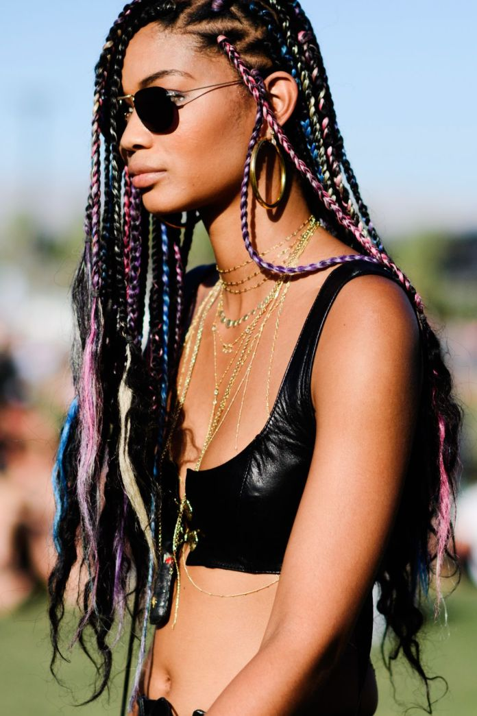 Multi-Colored-Braided-Hairstyle 25 Festival Hairstyles to Enhance Your Appearance