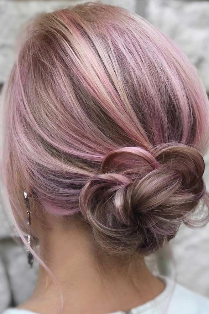 Pink-Highlighted-Flower-Haircut 25 Prom Hairstyles 2020 for an Exquisite Look