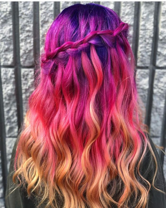 Pink-and-Purple-Hair-Color 21 Hair Color Trends 2020 to Glam Up Your Tresses