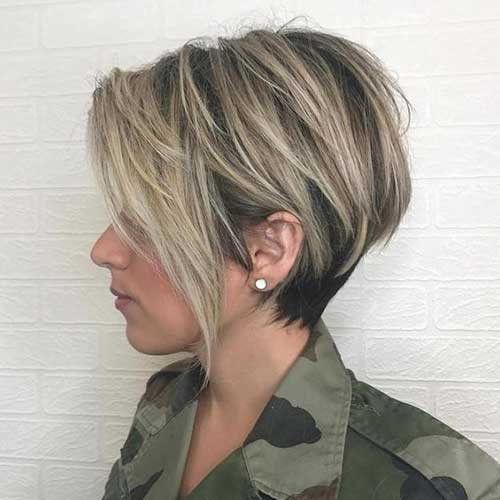 Pixie-Cut-with-Lowlights-and-Highlights Best Short Layered Haircuts for Women