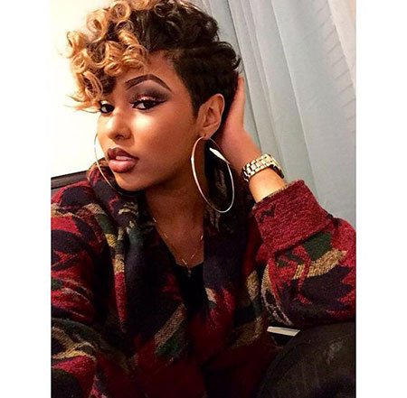 Pixie-Hair 33 Short Curly Natural Hairstyles for Black Women