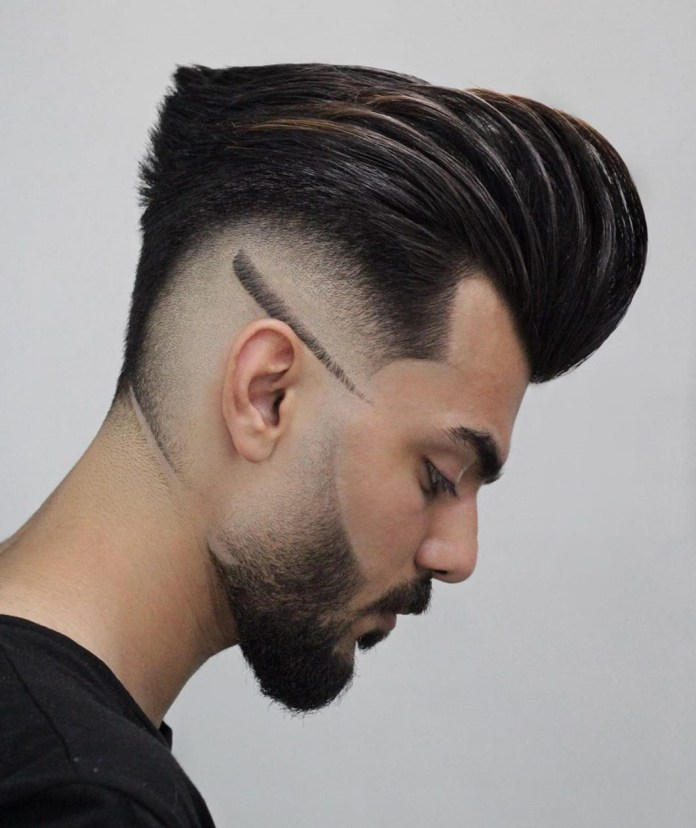 Pompadour-Drop-Fade Drop Fade Haircut for an Ultimate Stylish Look