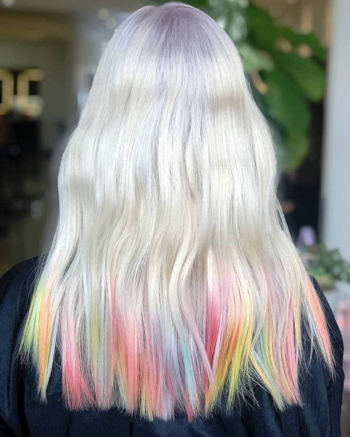 Pretty-Dyed-Lowlights 25 Festival Hairstyles to Enhance Your Appearance