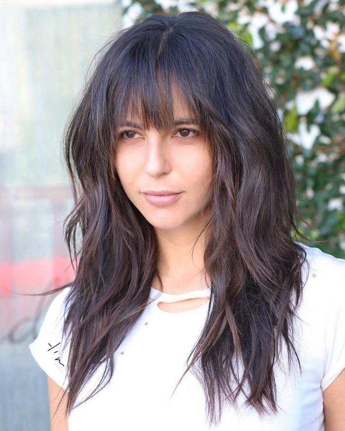 Shaggy-Hair-with-Bangs How to Choose the Best Haircut for Your Face Shape