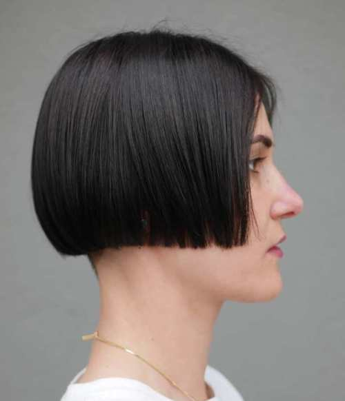 Short-Bob-with-Undercut 15 Stylish, Modern Undercut Bob Haircut in 2020