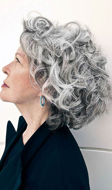 Short-Curly-Hairstyle-for-Women-Over-50 Best Short Curly Hairstyles for Women Over 50