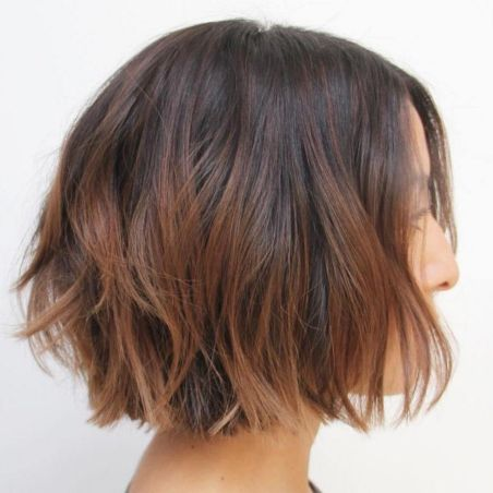 Short-Hair-with-Brown-Balayage 14 Trendy Balayage Short Hairstyles