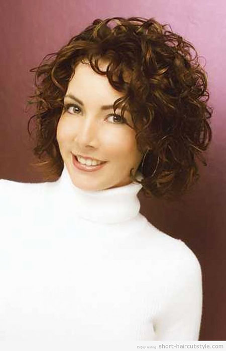 Short-and-Medium-Length-Curls Best Short Curly Hairstyles for Women Over 50