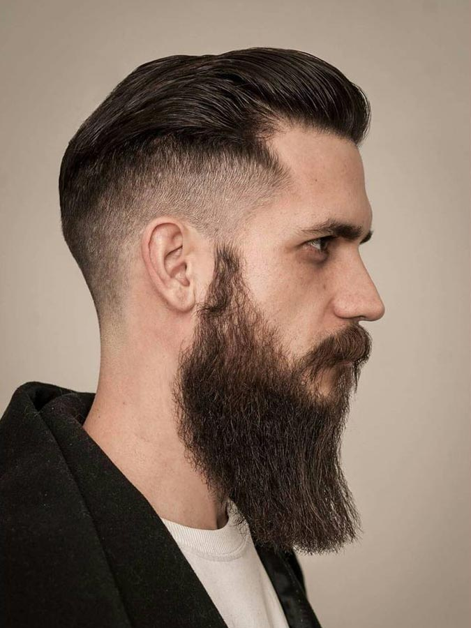The-Pompadour-Drop-Fade Drop Fade Haircut for an Ultimate Stylish Look