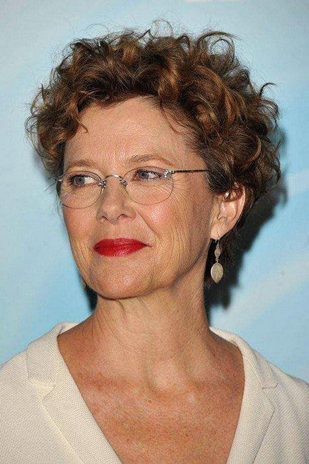 Thin-Brown-Curly-Hair Best Short Curly Hairstyles for Women Over 50