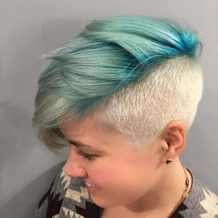 Turquoise-Toned-Hair-Shade 21 Hair Color Trends 2020 to Glam Up Your Tresses