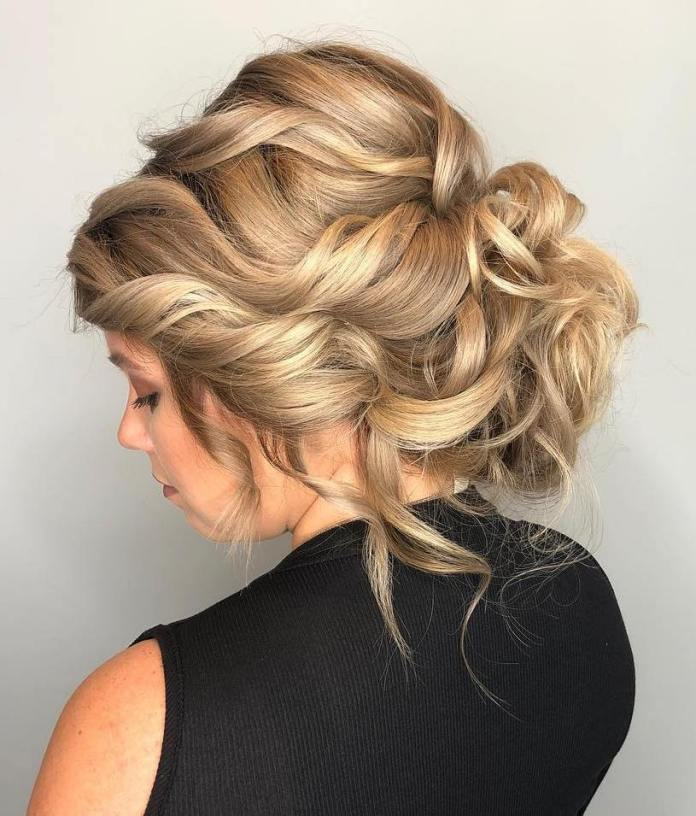 Updo-for-curly-hair 20 Eye-catching Updo Hairstyles To Make Your Day
