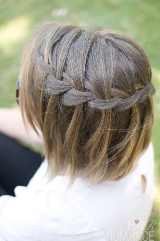 Waterfall-braid 10 On-trend braided hairstyles for short hair