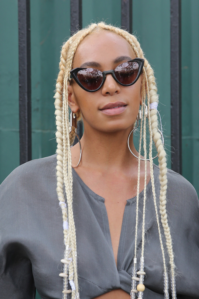 Yellow-Platinum-Blonde-Plaits 20 Blonde Hairstyles 2020 to Flaunt this Year