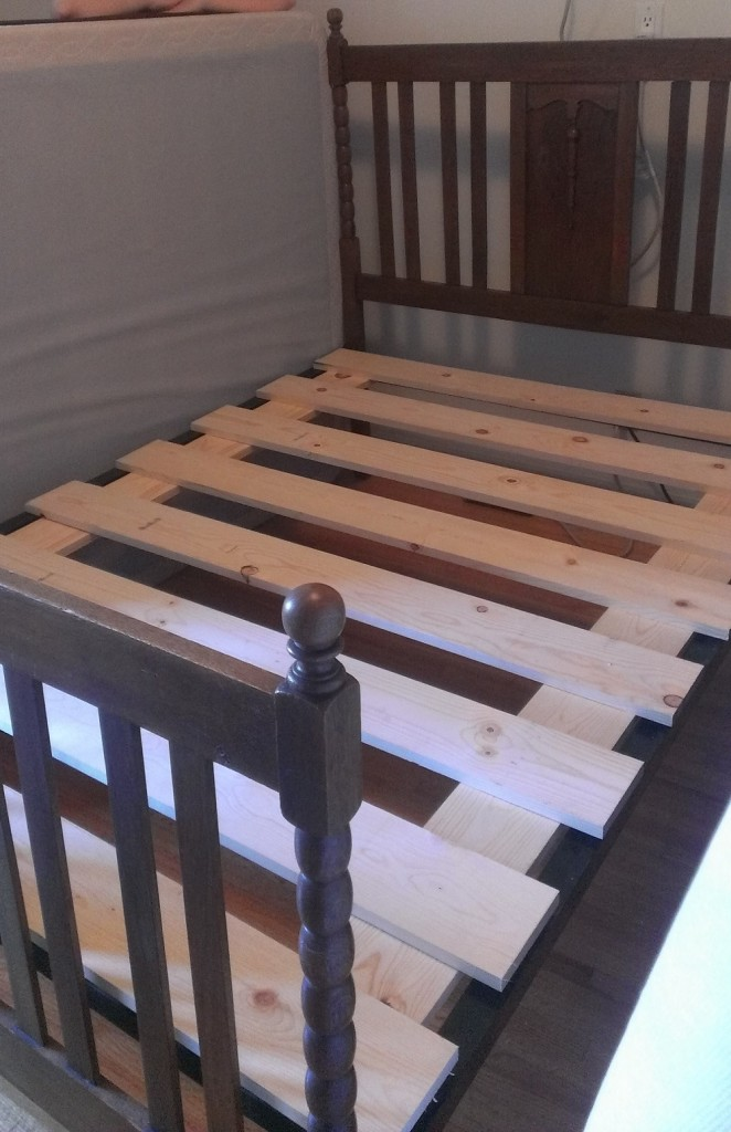 Let Me Fix You Box Spring To Bed Slats The UNDERenlightened