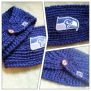 Seahawks Ear Warmer by Harts and Pearls