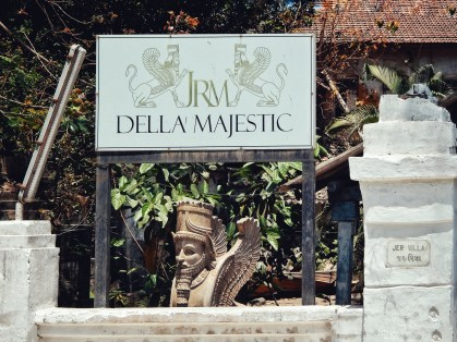 Entrance of Della Majestic, once known as Hotel Majestic